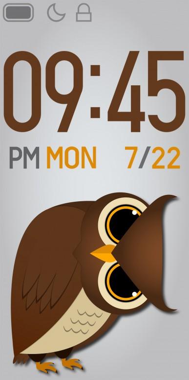 Owl Stalker - Mi Band 4 Custom Watchface #DesignWithMi - Mi Band 4