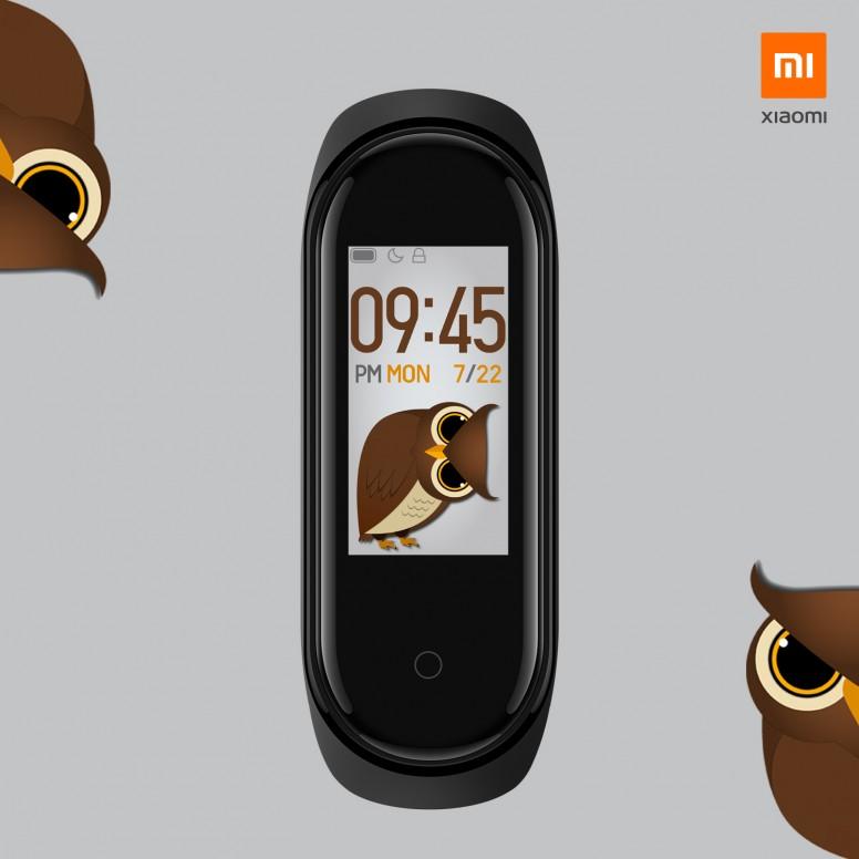 Owl Stalker - Mi Band 4 Custom Watchface #DesignWithMi - Mi