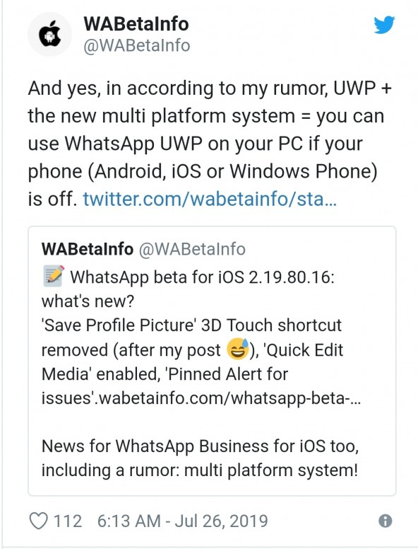 WhatsApp's New Desktop App Will Work Without Your Phone