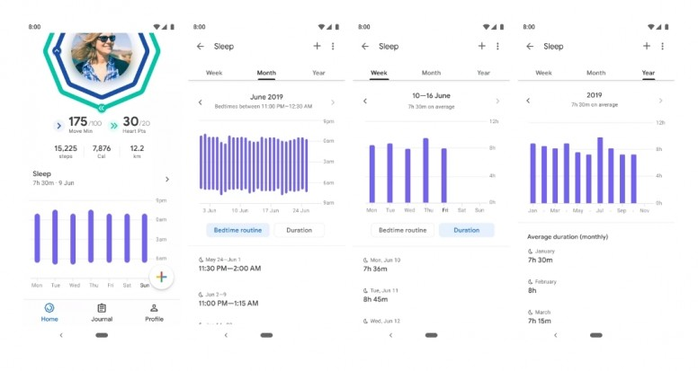 Google Fit dark theme and detailed sleep logging now