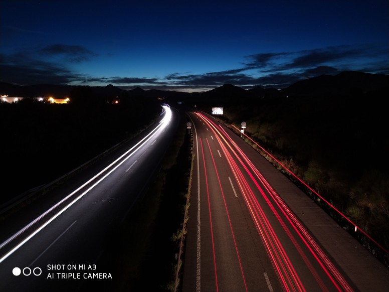 light painting coches