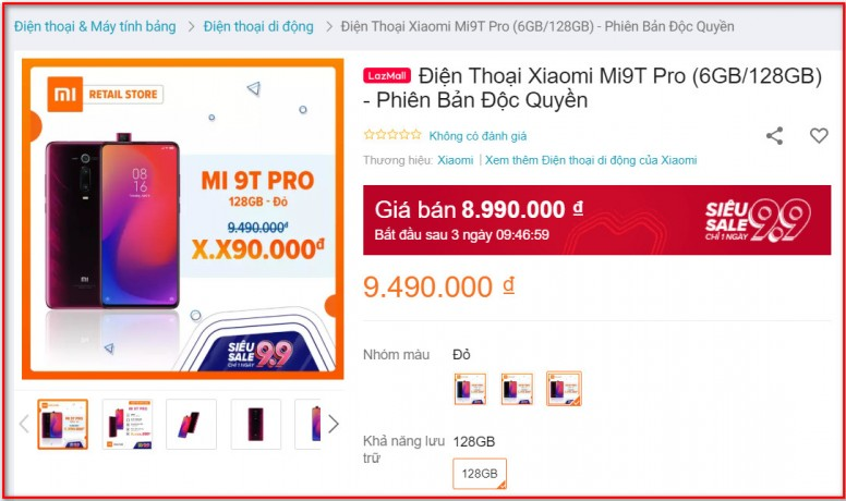 Xiaomi Mi 9T Pro có giá chính thức: Bằng Mi 9T, chip rồng QSD 855, chỉ bán online qua Lazada