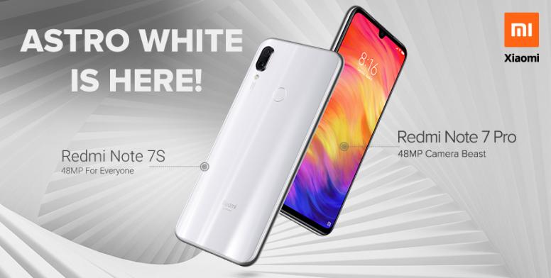 Introducing Redmi Note 7s And Redmi Note 7 Pro In Astro White