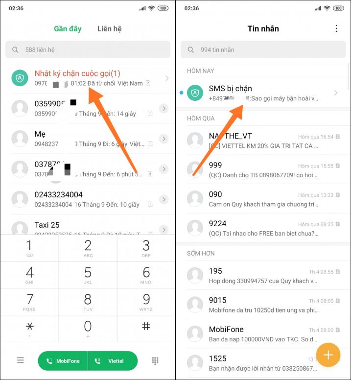 [MIUI Vỡ Lòng #22] Cách bật - sử dụng chặn cuộc gọi và tin nhắn
