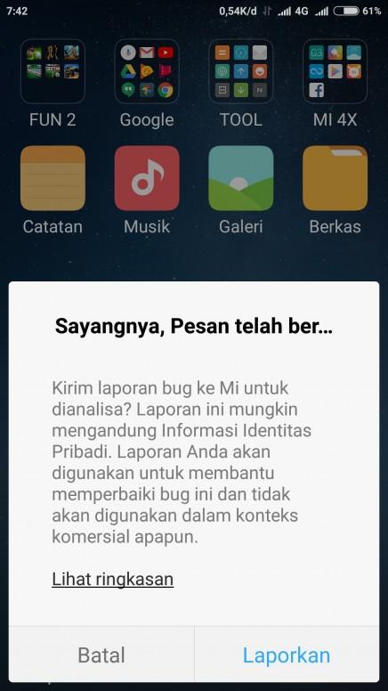Cara Mengatasi Sms Kena Bug Tidak Bisa Di Buka Pesan Telah Berhenti Redmi Note 4 Mi Community Xiaomi