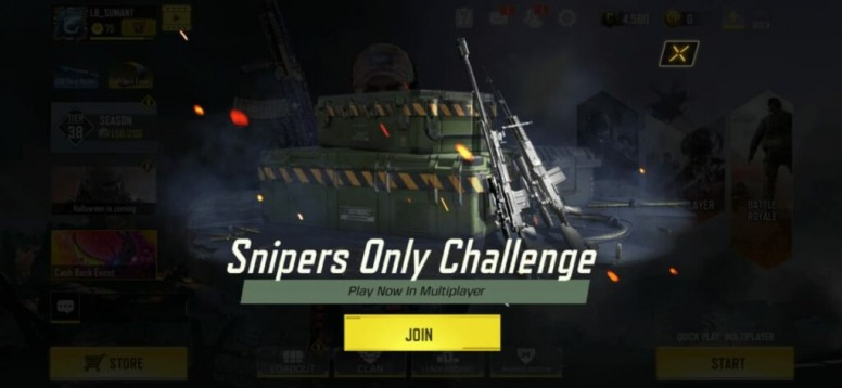 Call Of Duty Mobile Gets A Sniper Only Mode For Limited Time