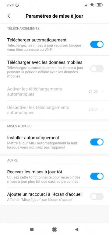 Connaissez Vous Ce Paramètre Recevez Les Mises A Jour Tôt Redmi Note 7 Mi Community Xiaomi