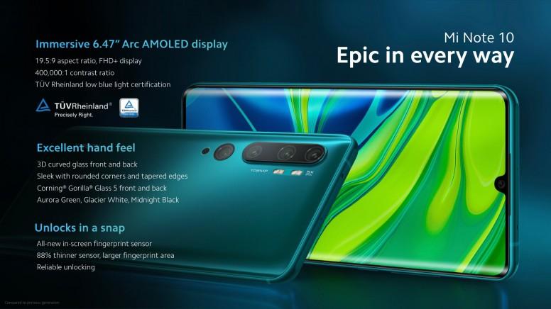 Mi CC9 Pro / Mi Note 10 屏幕规格