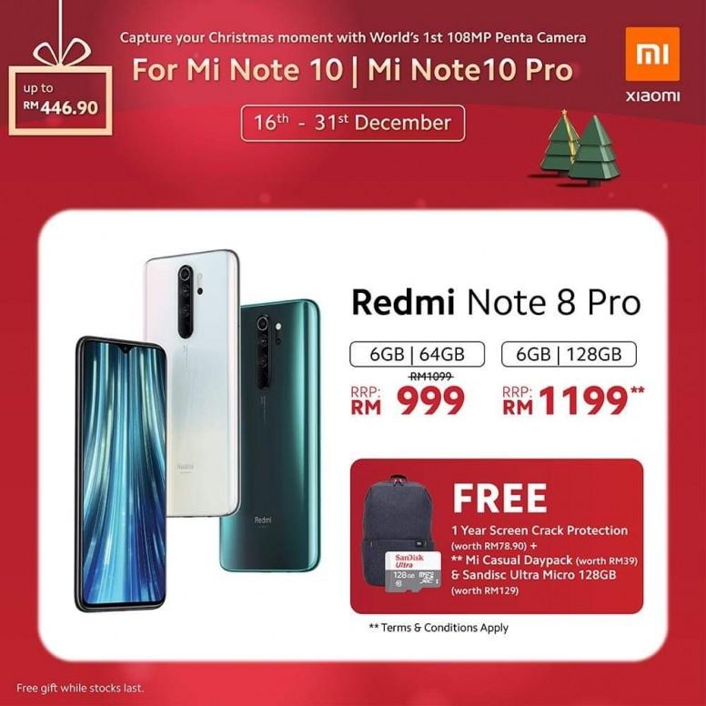 小米手机 2019 圣诞优惠,节省超过 RM400,同时还有送奖游戏送出一亿像素小米 Note 10! 11