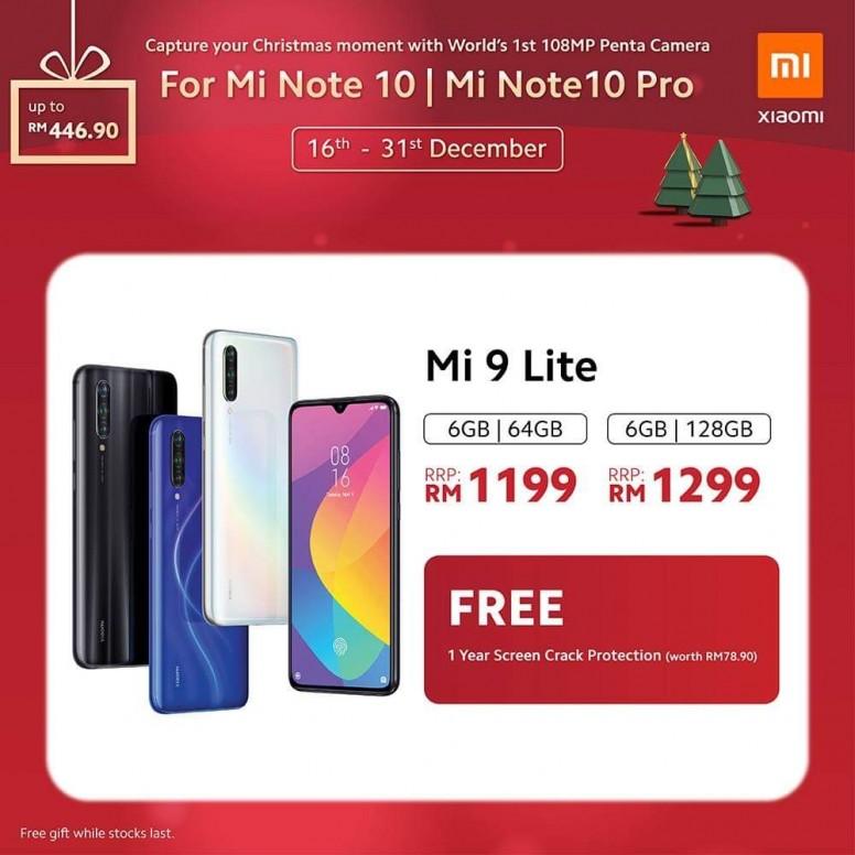 小米手机 2019 圣诞优惠,节省超过 RM400,同时还有送奖游戏送出一亿像素小米 Note 10! 5