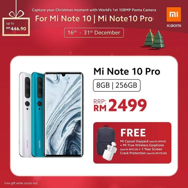 小米手机 2019 圣诞优惠,节省超过 RM400,同时还有送奖游戏送出一亿像素小米 Note 10! 1