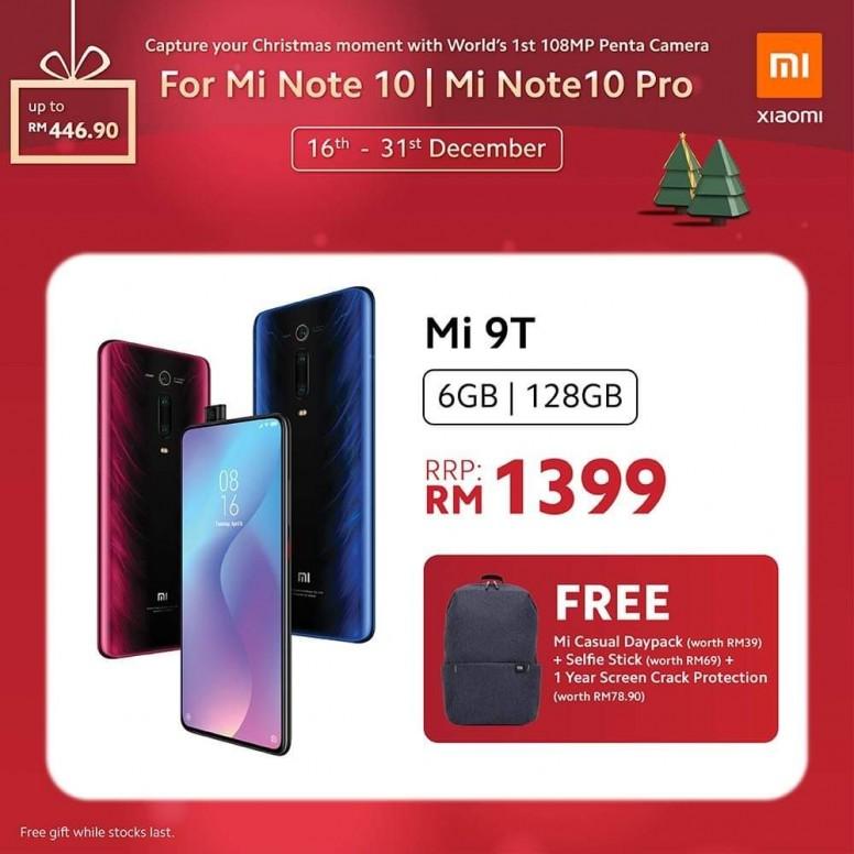 小米手机 2019 圣诞优惠,节省超过 RM400,同时还有送奖游戏送出一亿像素小米 Note 10! 9