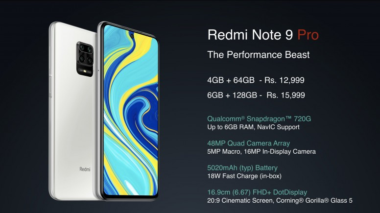 Redmi Note 9 Pro 系列印度亮相,高通骁龙 720G 外加 5020mAh 超大电量,售价约 RM750 起 8