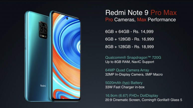 Redmi Note 9 Pro 系列印度亮相,高通骁龙 720G 外加 5020mAh 超大电量,售价约 RM750 起 9