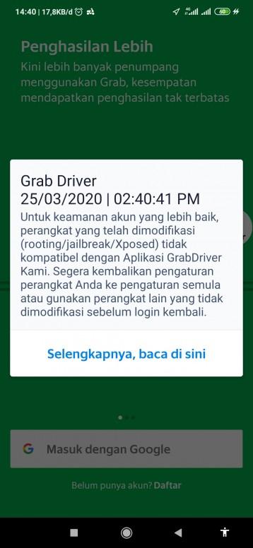 Aplikasi Grab Driver Terdeksi Root Padahal Ga Di Root Redmi Note 5a Mi Community Xiaomi